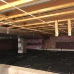 radon mitigation system in crawlspace